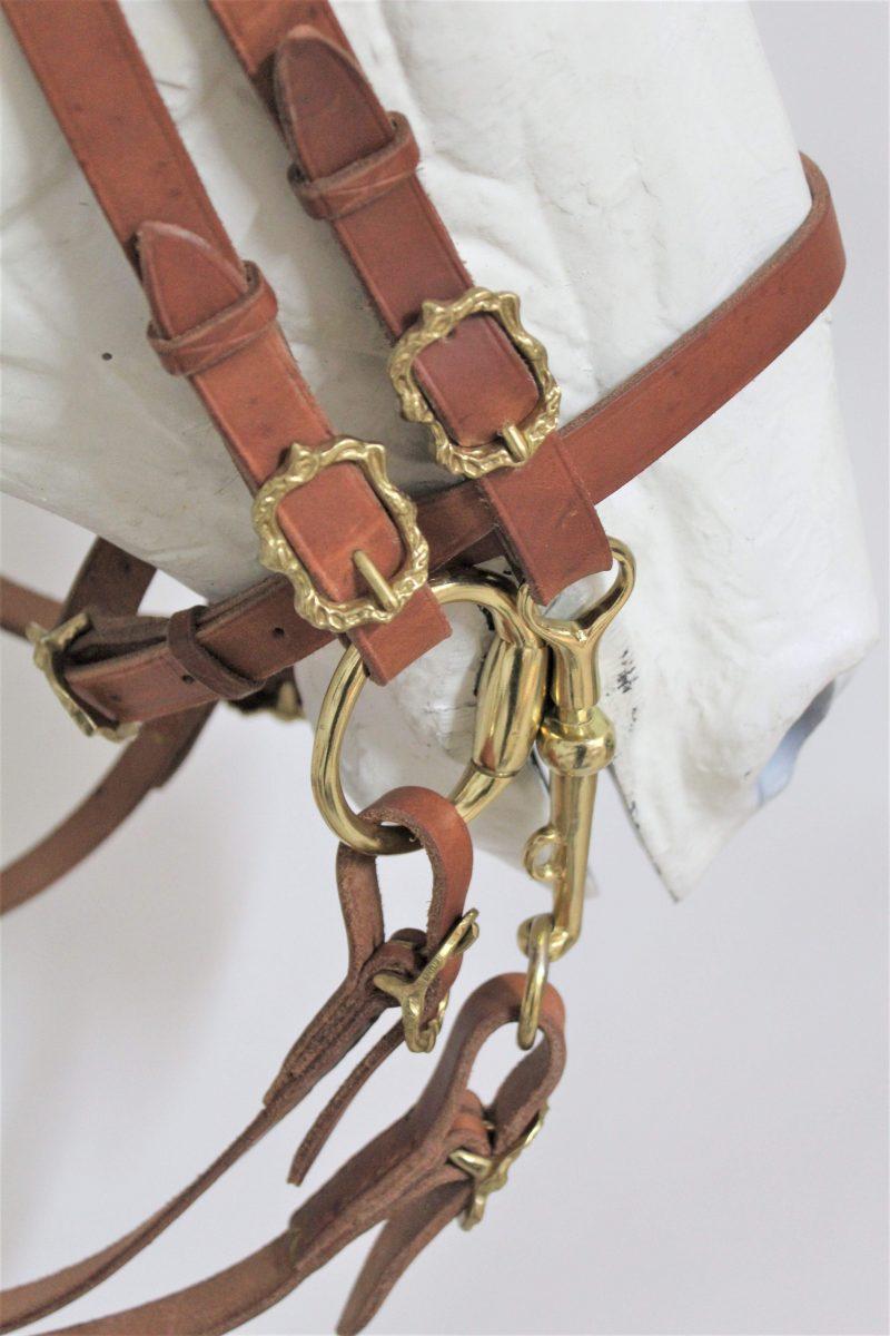 Cabeçada Portuguesa Tradicional Barroco Dupla - Detalhe